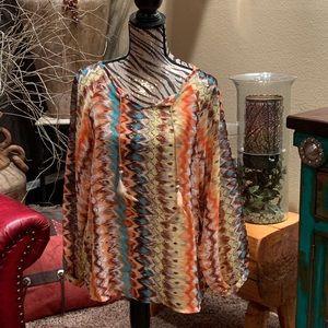 Multicolor tie-dye top